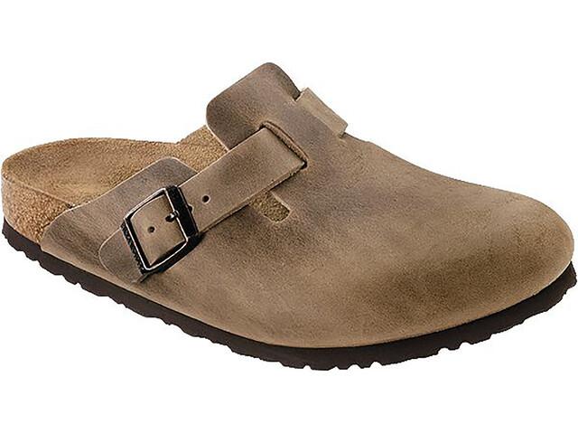 Birkenstock Boston Clogs Nubuck Leather Narrow, brązowy